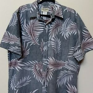 Men's Hawaiian shirt short sleeve square bottom